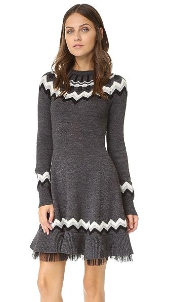 RED Valentino Fair Isle Sweater Dress