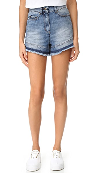 RED Valentino Two Tone Denim Shorts