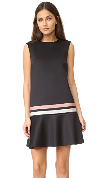 RED Valentino Striped Scuba Dress