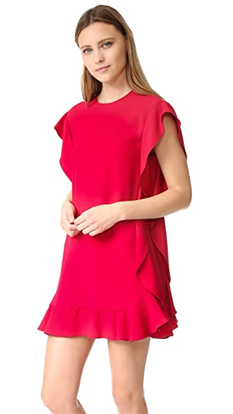 RED Valentino Crepe Ruffle Dress