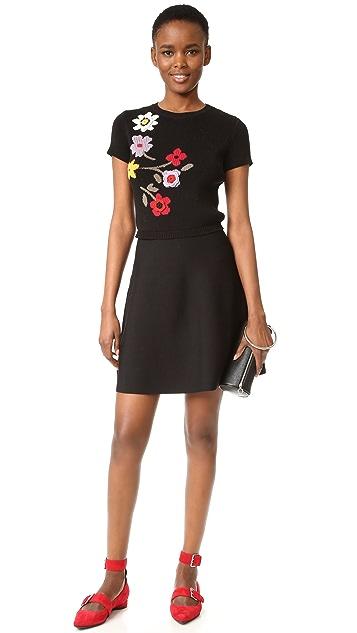 RED Valentino Floral Intarsia Dress