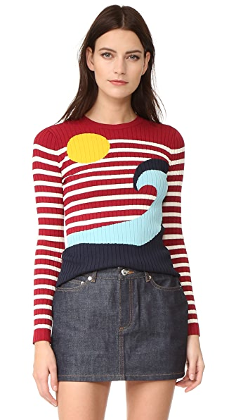 RED Valentino Waves & Sun Sweater