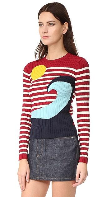 RED Valentino Waves & Sun Sweater