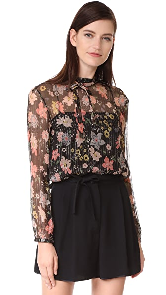 RED Valentino Floral Blouse - Black