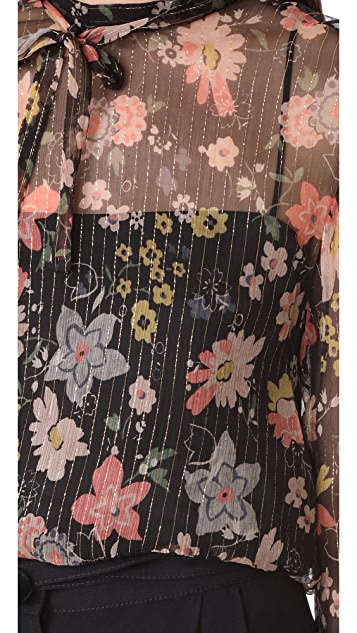 RED Valentino Floral Blouse