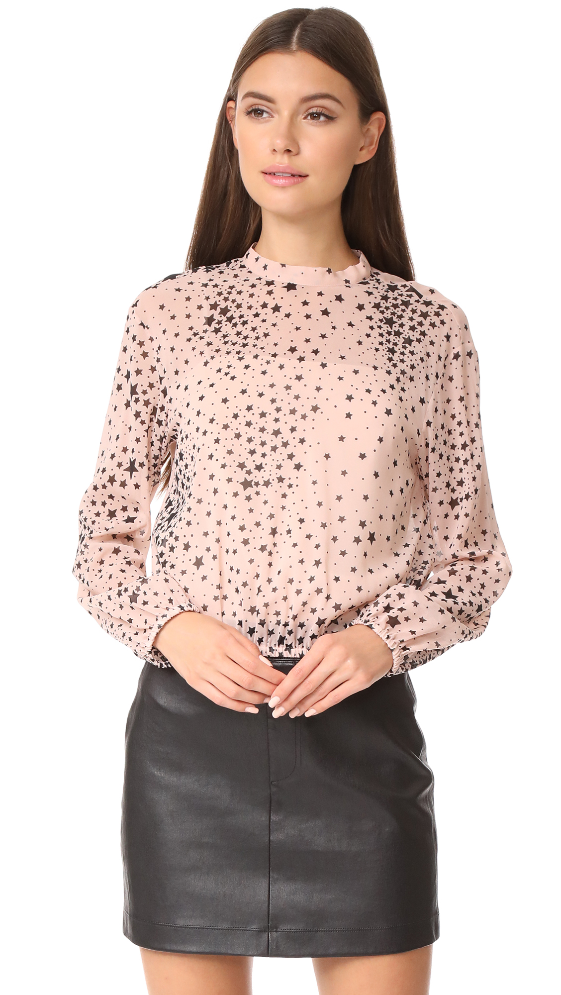 RED Valentino Star Top - Nude