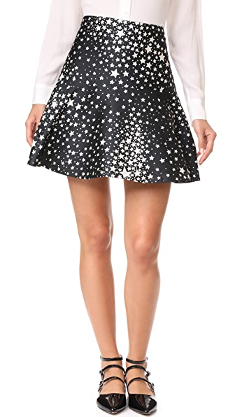 RED Valentino Star Skirt - Black