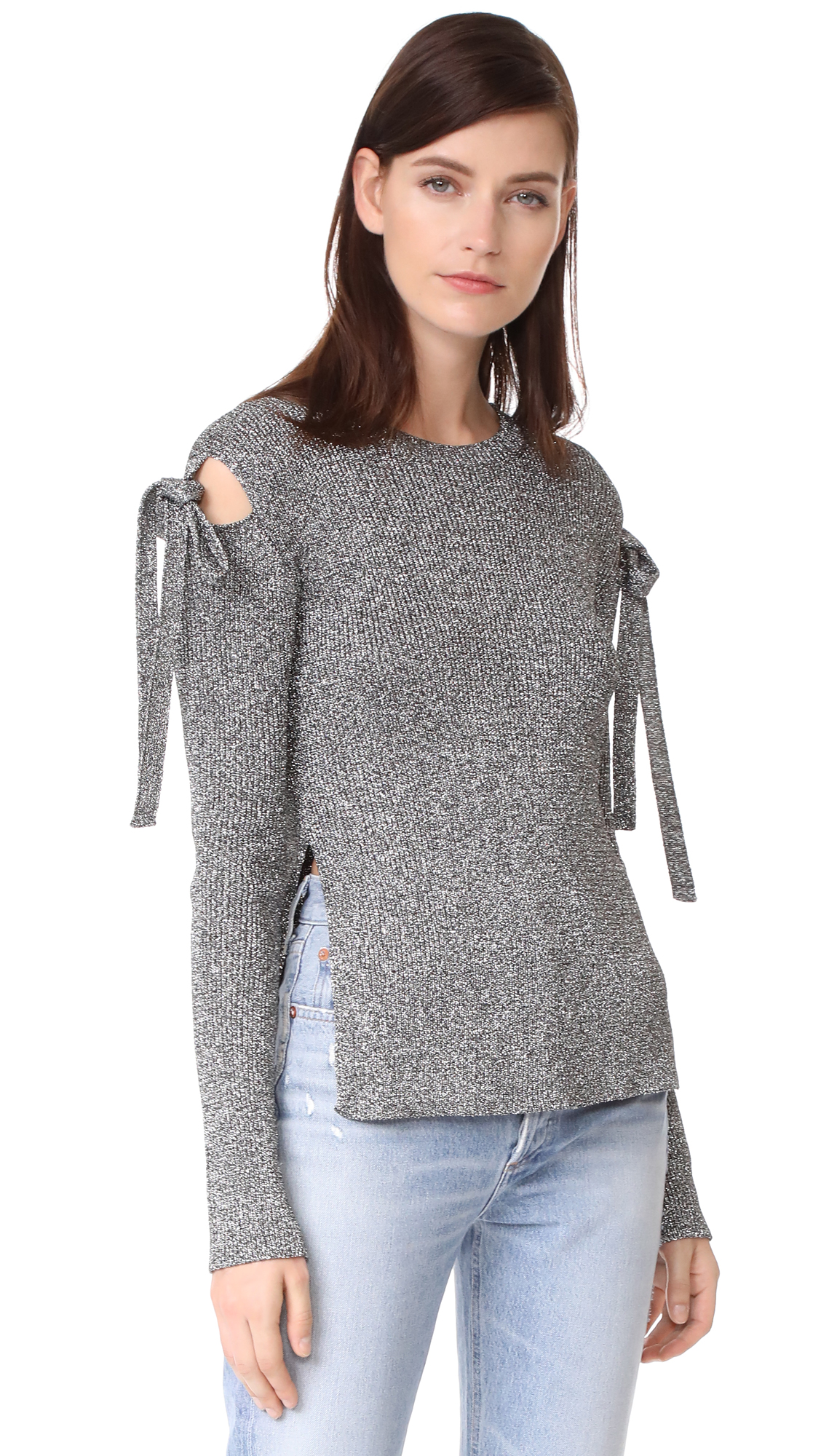 RED Valentino Tie Sweater - Platino