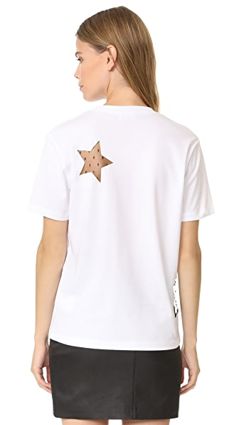 RED VALENTINO Star T-Shirt in White
