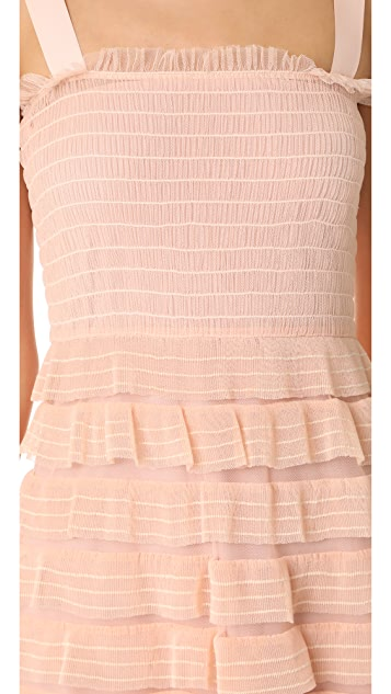 RED Valentino Tulle Ruffle Dress