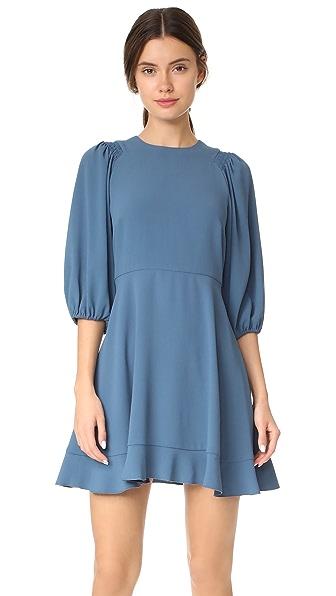 RED Valentino 3/4 Sleeve Dress - Blue