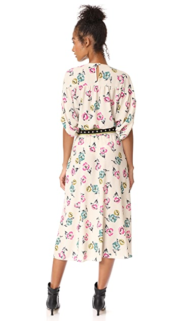 RED Valentino Moroccan Dress with Studded Belt