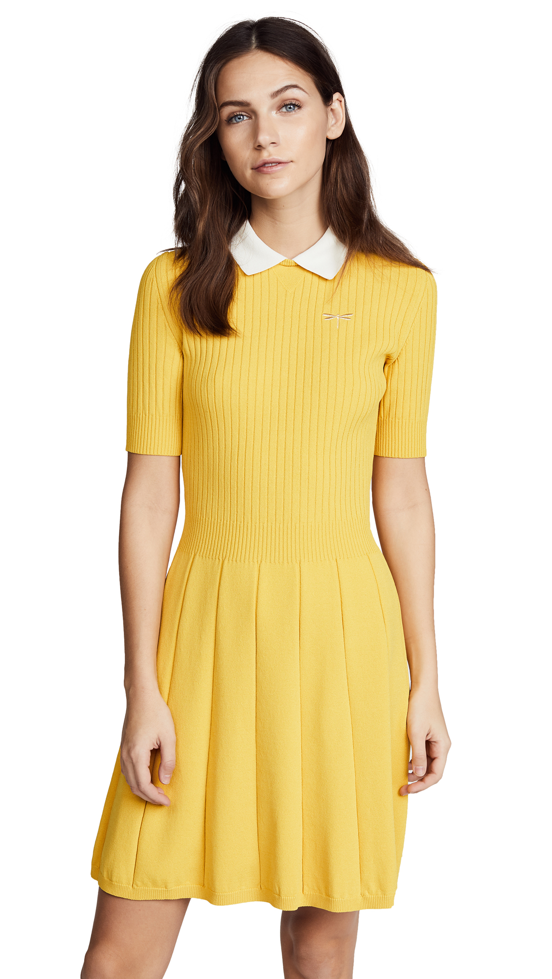 RED Valentino Collared Flare Dress - Topazio