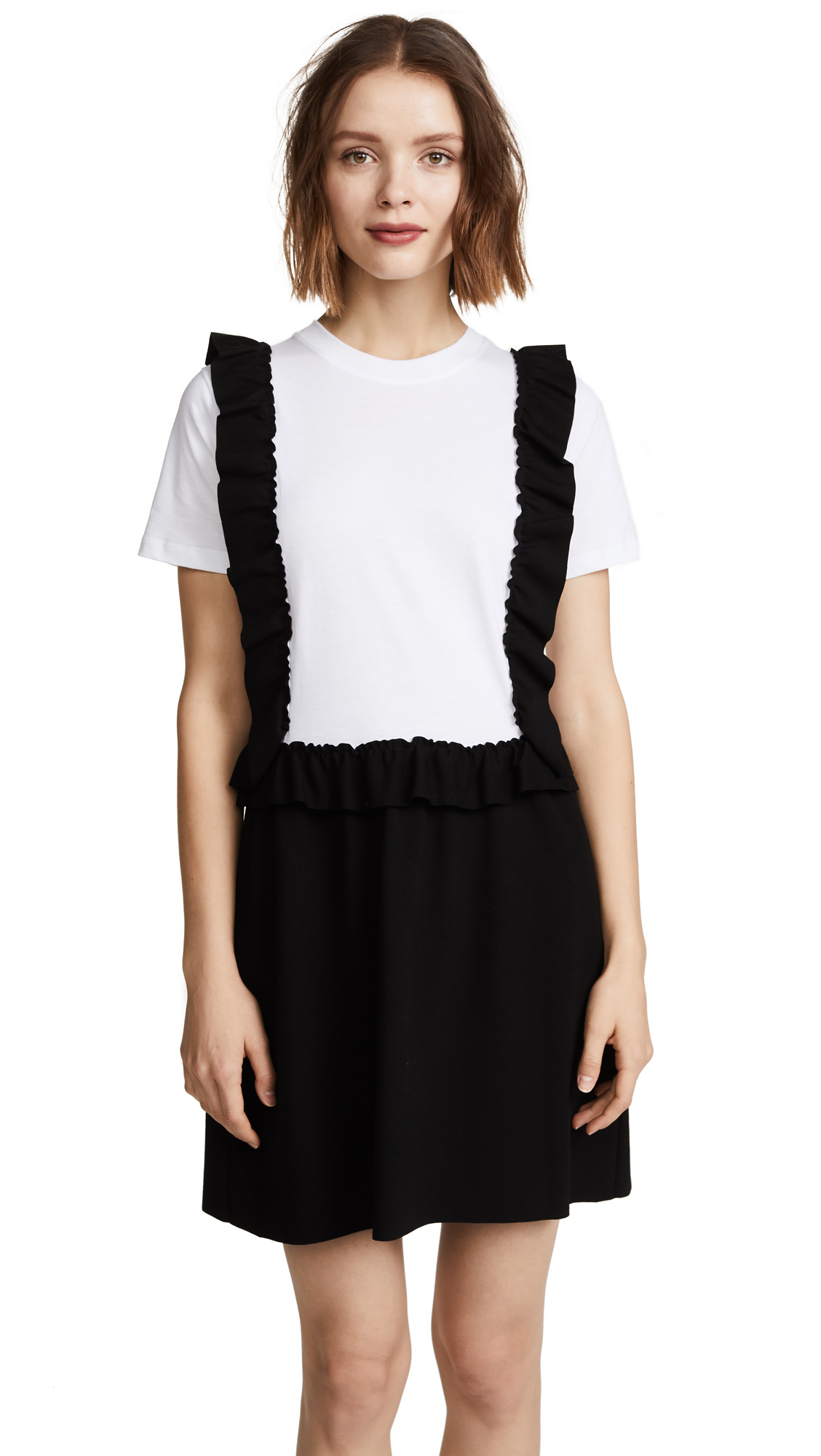 RED Valentino Pinafore Tee Dress - Bianco/Nero