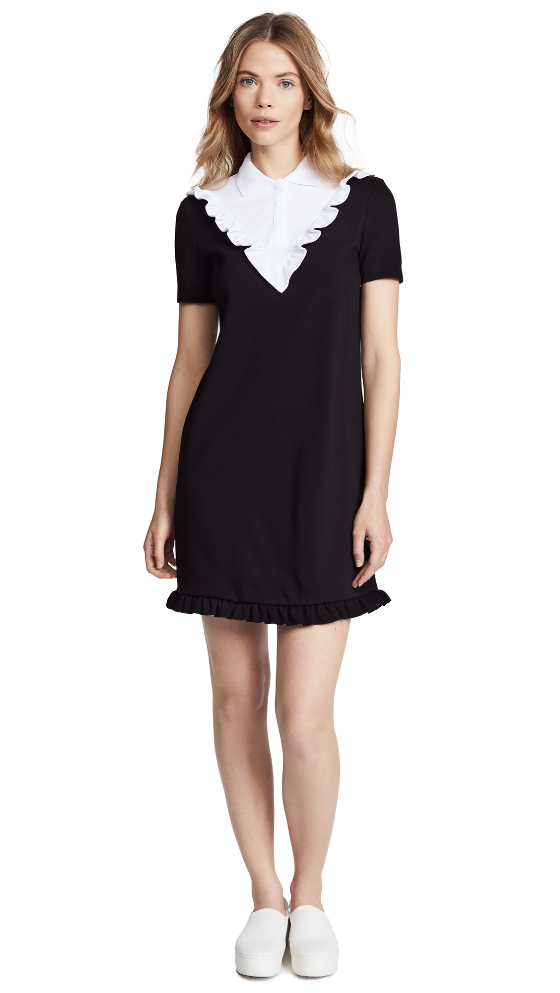 RED Valentino Bib Dress - Nero/Bianco