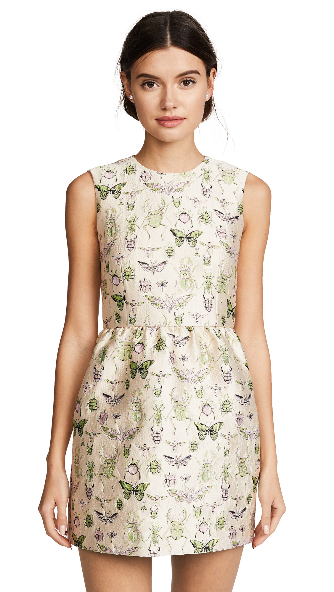 RED Valentino Brocade Dress - Insect Brocade Bambolina