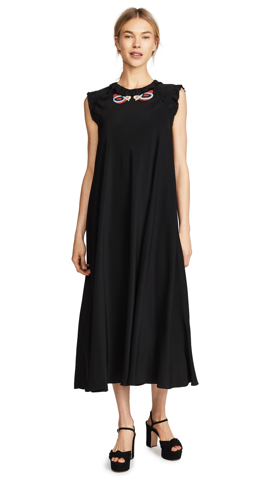 RED Valentino Black Midi Dress
