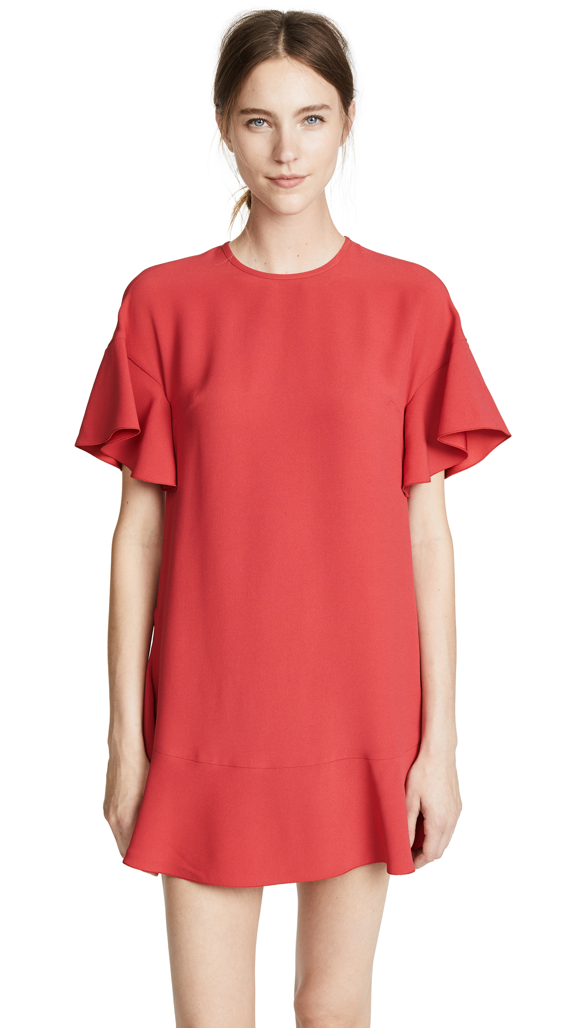 RED Valentino Tiered Shift Dress In Oleandro