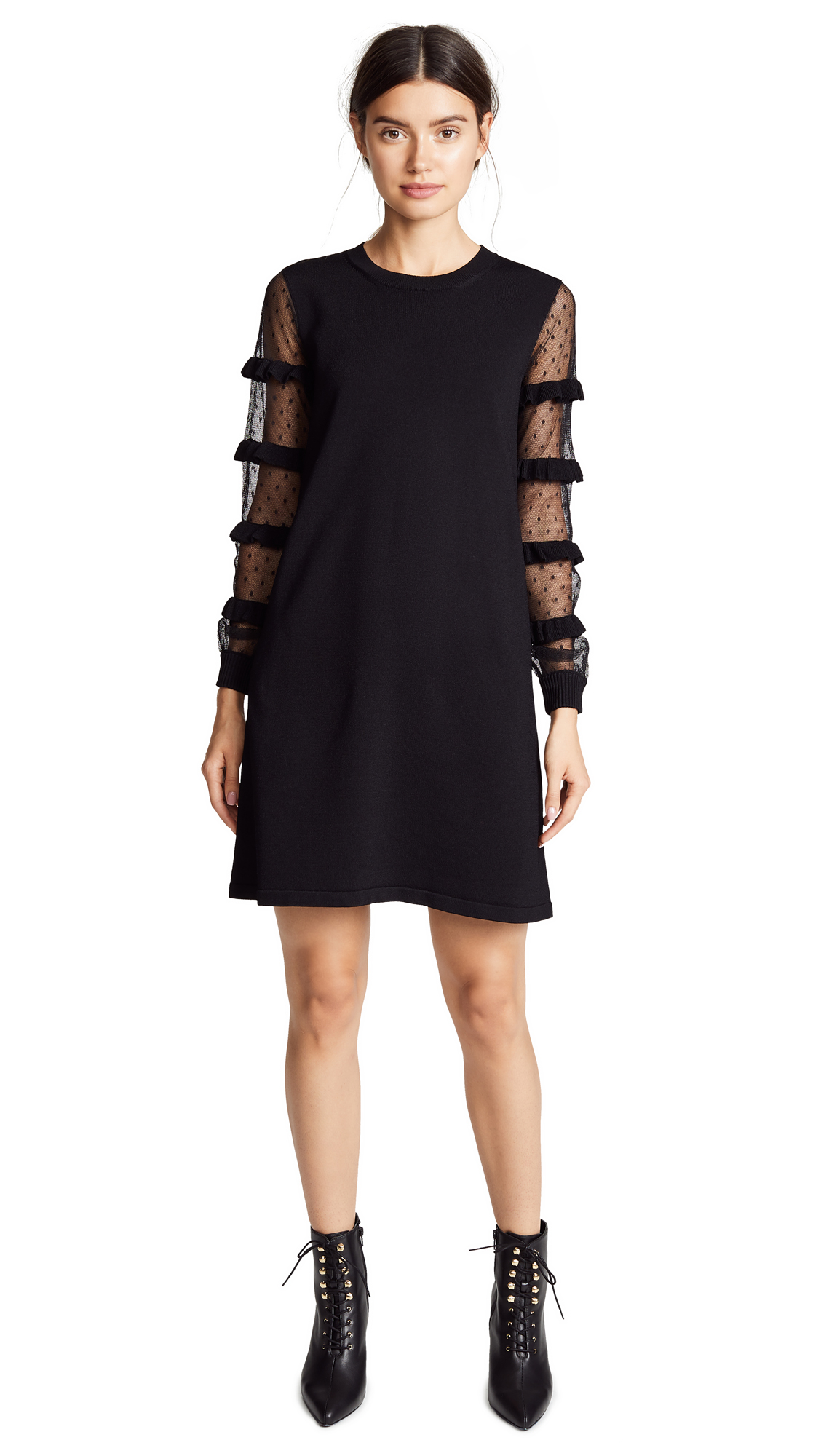 RED Valentino Sheered Sleeve Dress