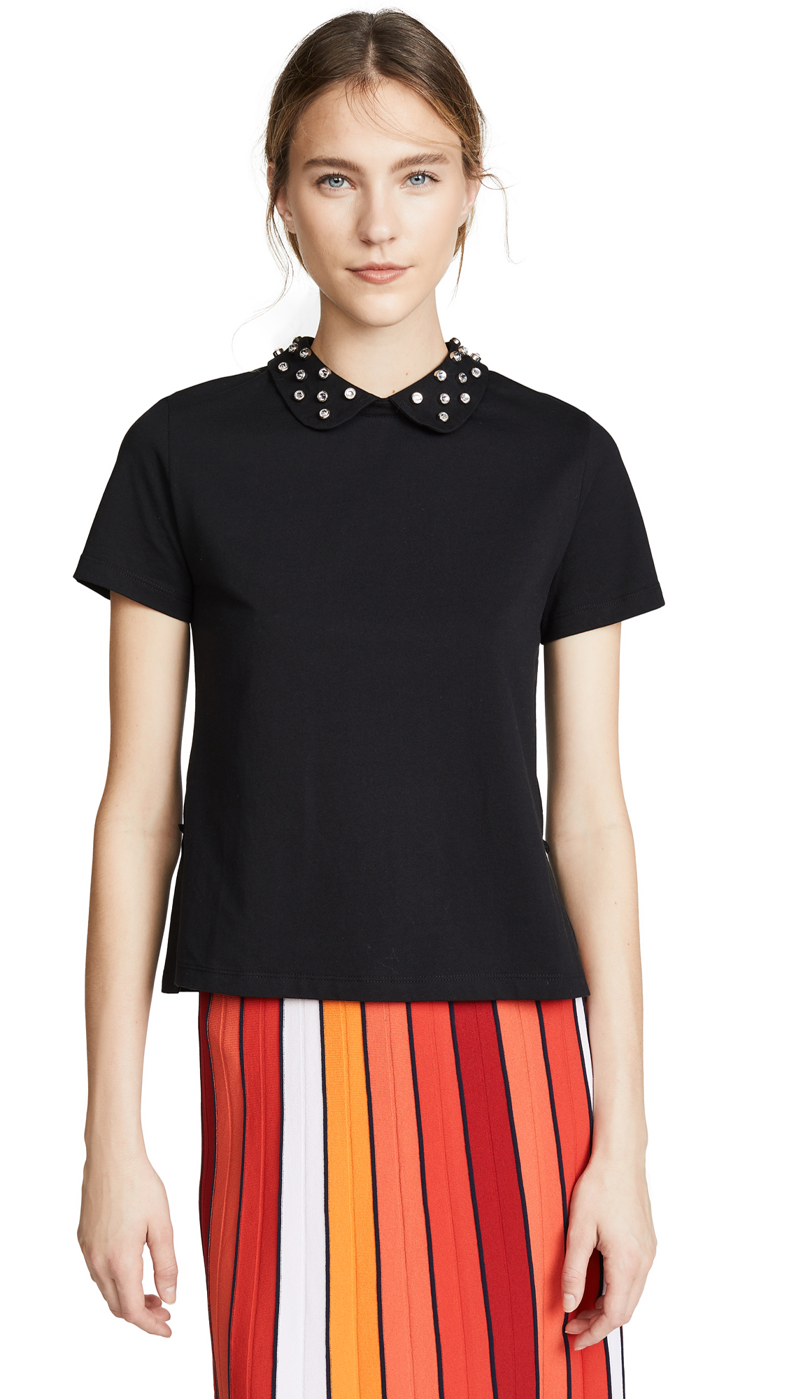 RED Valentino Embellished Collar Blouse - Nero