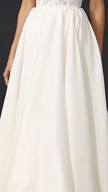 Reem Acra Pleated Ball Skirt
