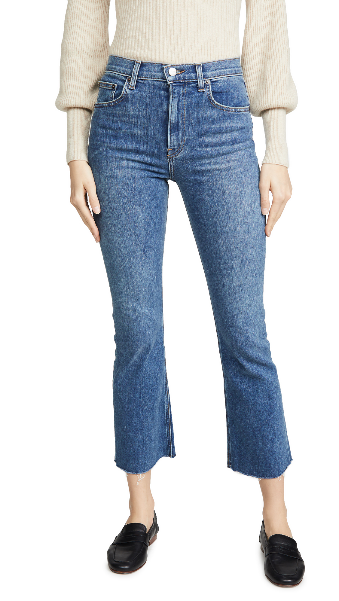 Buy Reformation online - photo of Reformation Jessie High Crop Boot Jeans