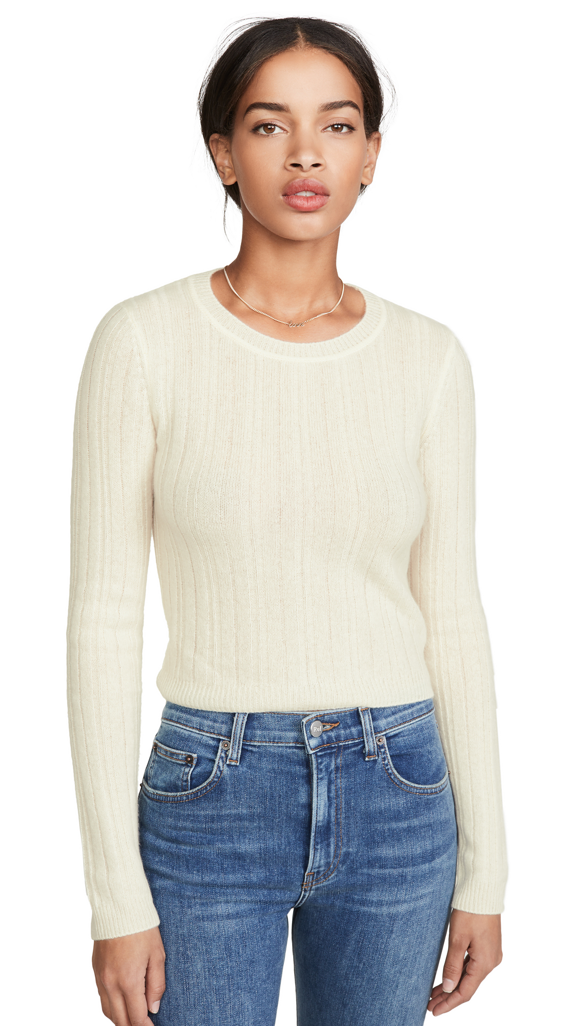 Buy Reformation online - photo of Reformation Cropped Crew Neck Cashmere Sweater