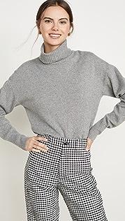 Reformation Кашемировый свитер с воротником под горло в стиле «бойфренд»