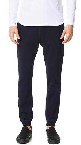 Reigning Champ Indigo Slim Sweatpants with Zip Back Pocket