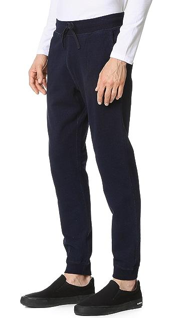 Reigning Champ Indigo Slim Sweatpants with Zip Back Pocket