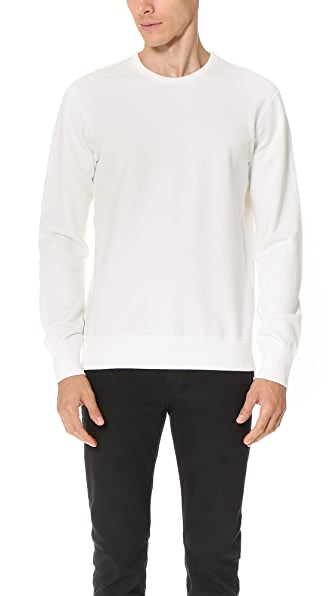 Reigning Champ Mid Weight Terry Side Zip Crew Sweatshirt