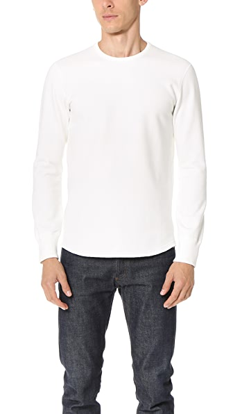 Reigning Champ Mid Weight Terry Scalloped Long Sleeve Crew Sweatshirt