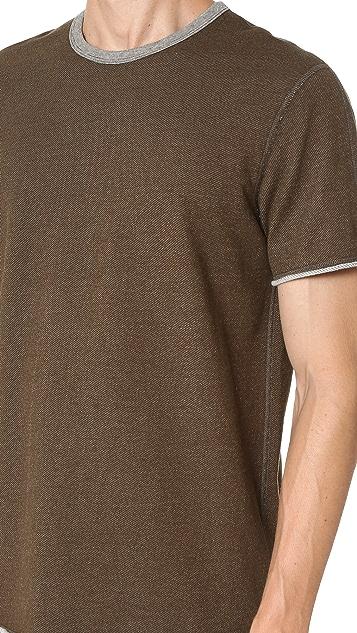 Reigning Champ Diagonal Terry Short Sleeve Crew Sweatshirt