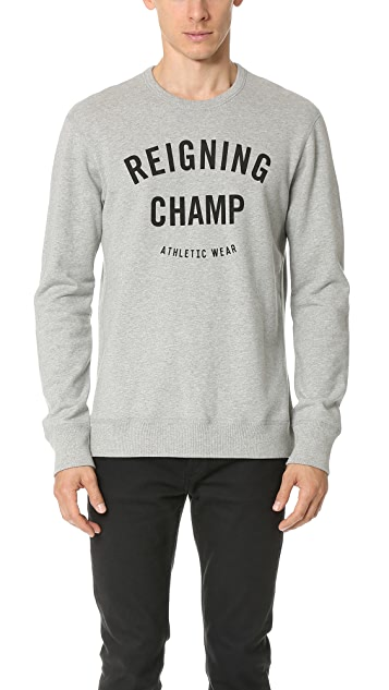 Reigning Champ Gym Logo Crew Sweatshirt