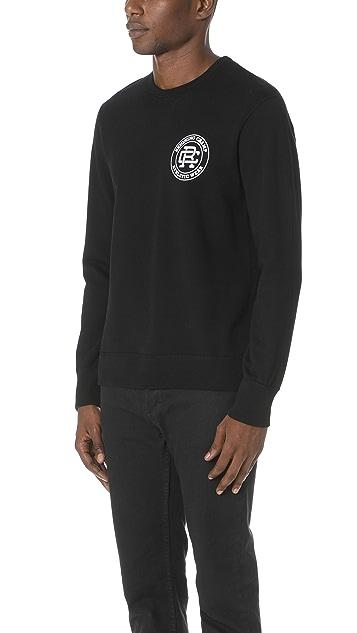 Reigning Champ Crest Logo Crew Sweatshirt