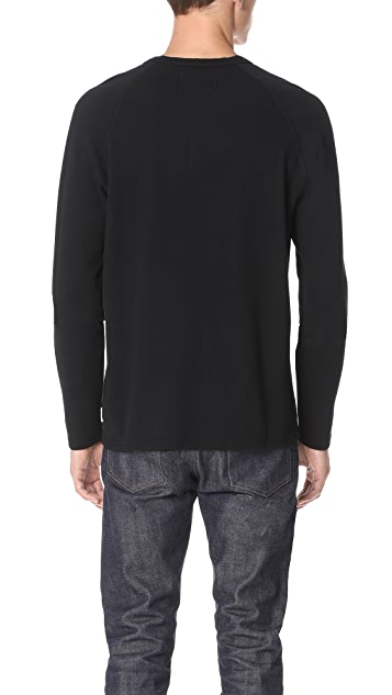 Reigning Champ Long Sleeve Mesh Henley