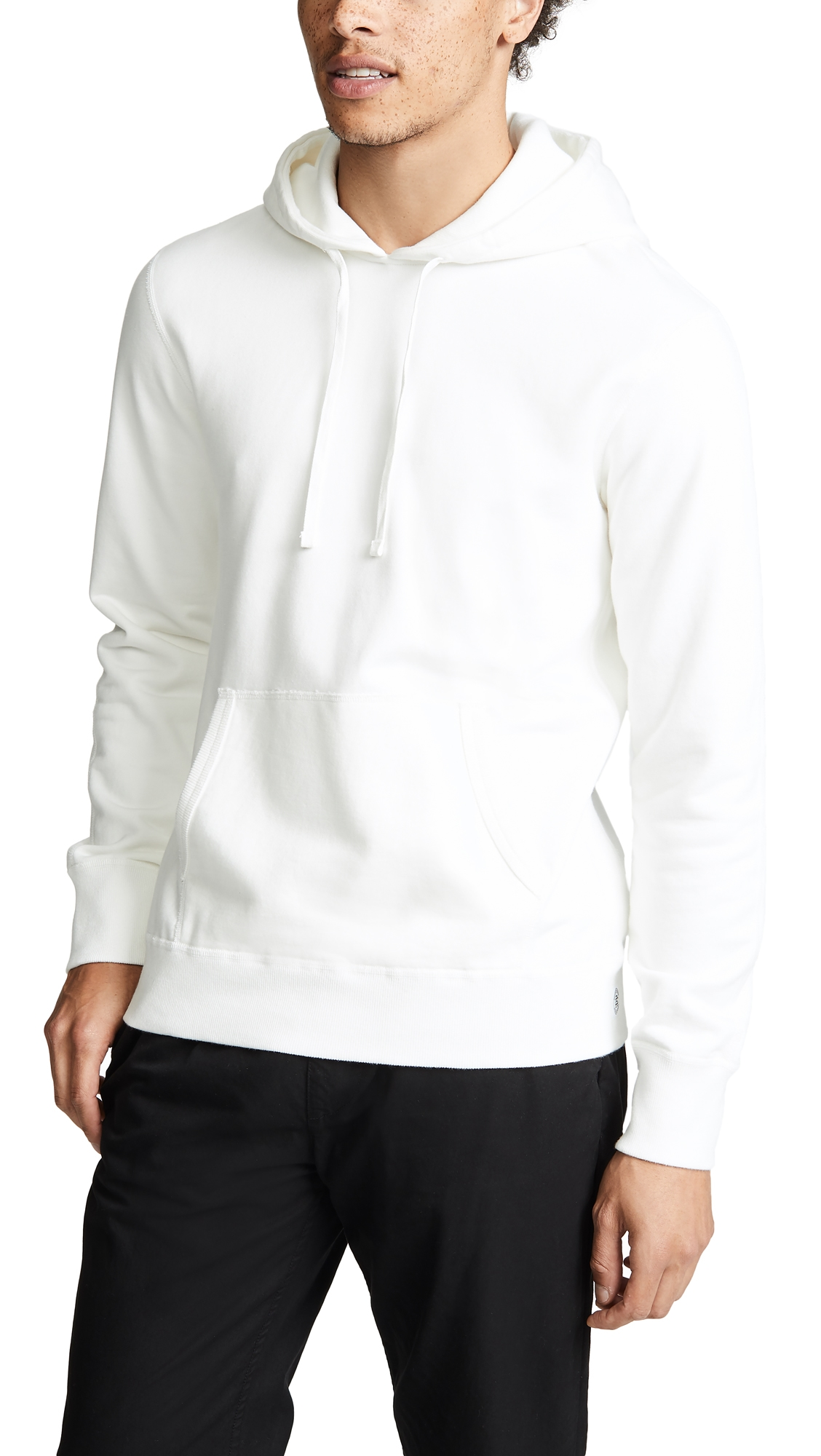 REIGNING CHAMP Lightweight Terry Pullover Hoodie in Winter White