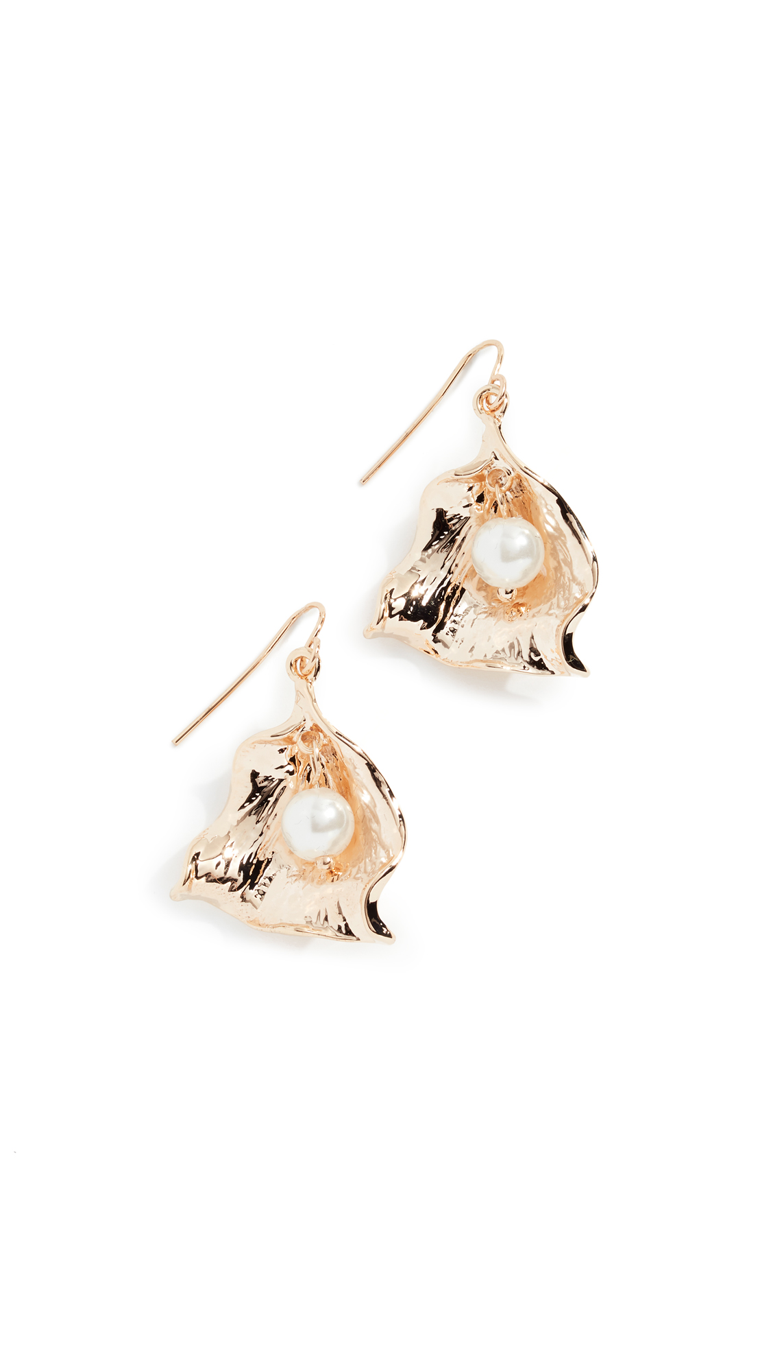 RELIQUIA Zanzibar Imitation Pearl Earrings in Yellow Gold/Pearl