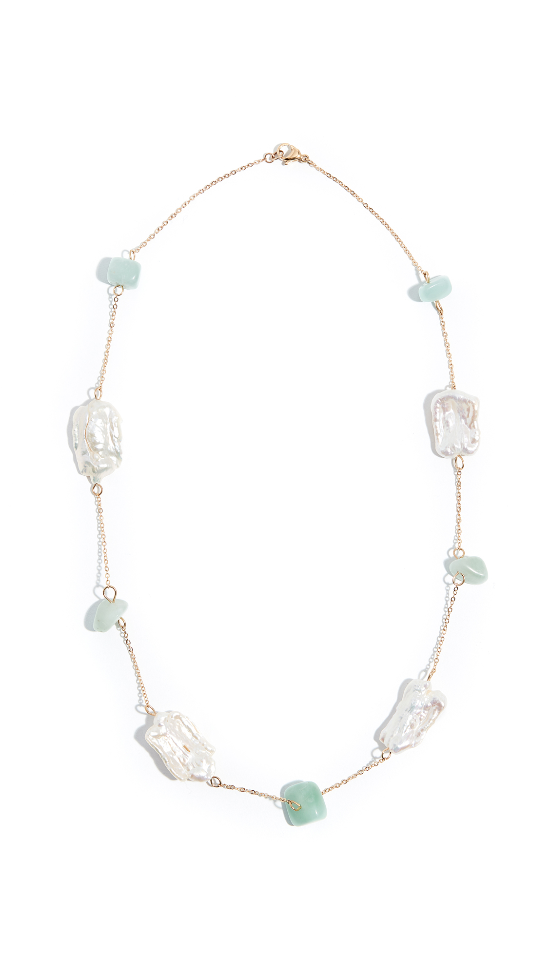 RELIQUIA Fantasy Necklace in Pearl/Green