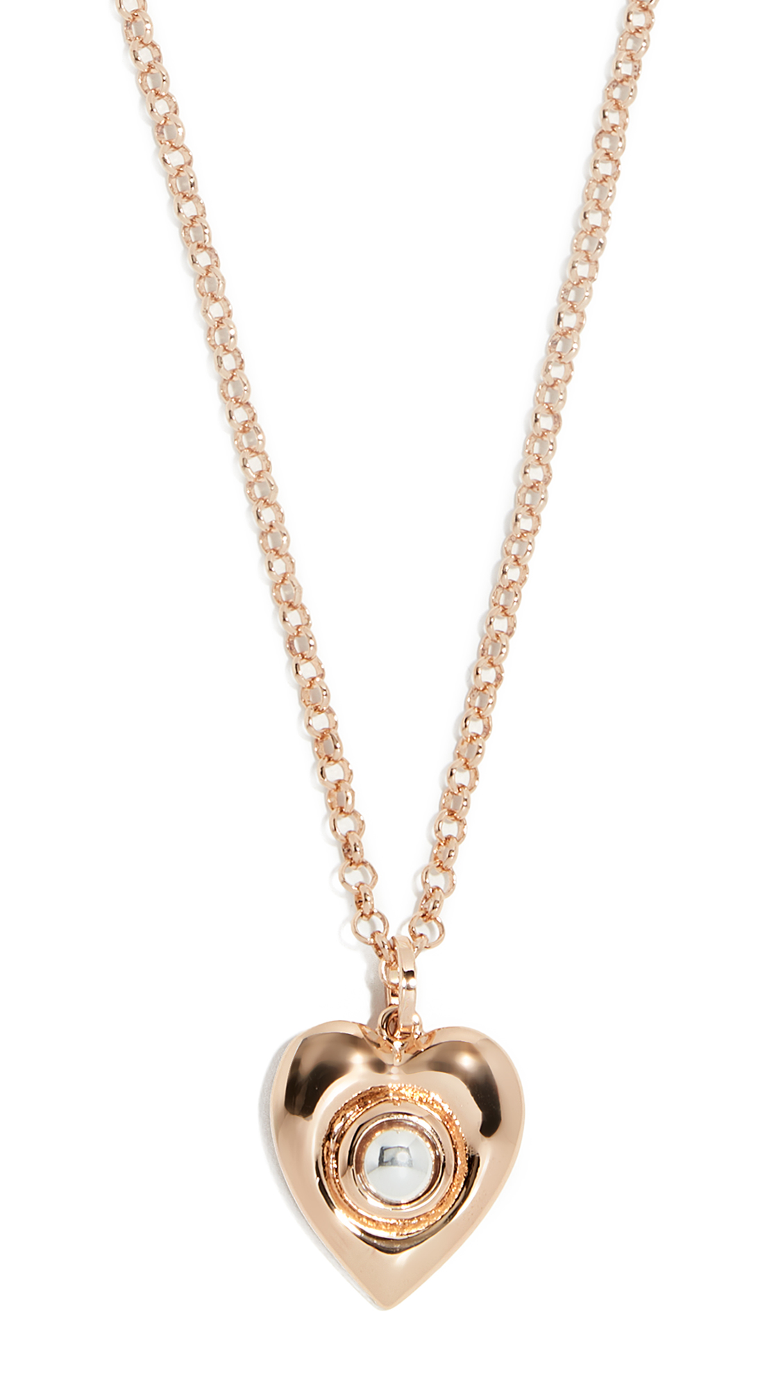 RELIQUIA Small Heart Of Gold Necklace in Yellow Gold/Pearl