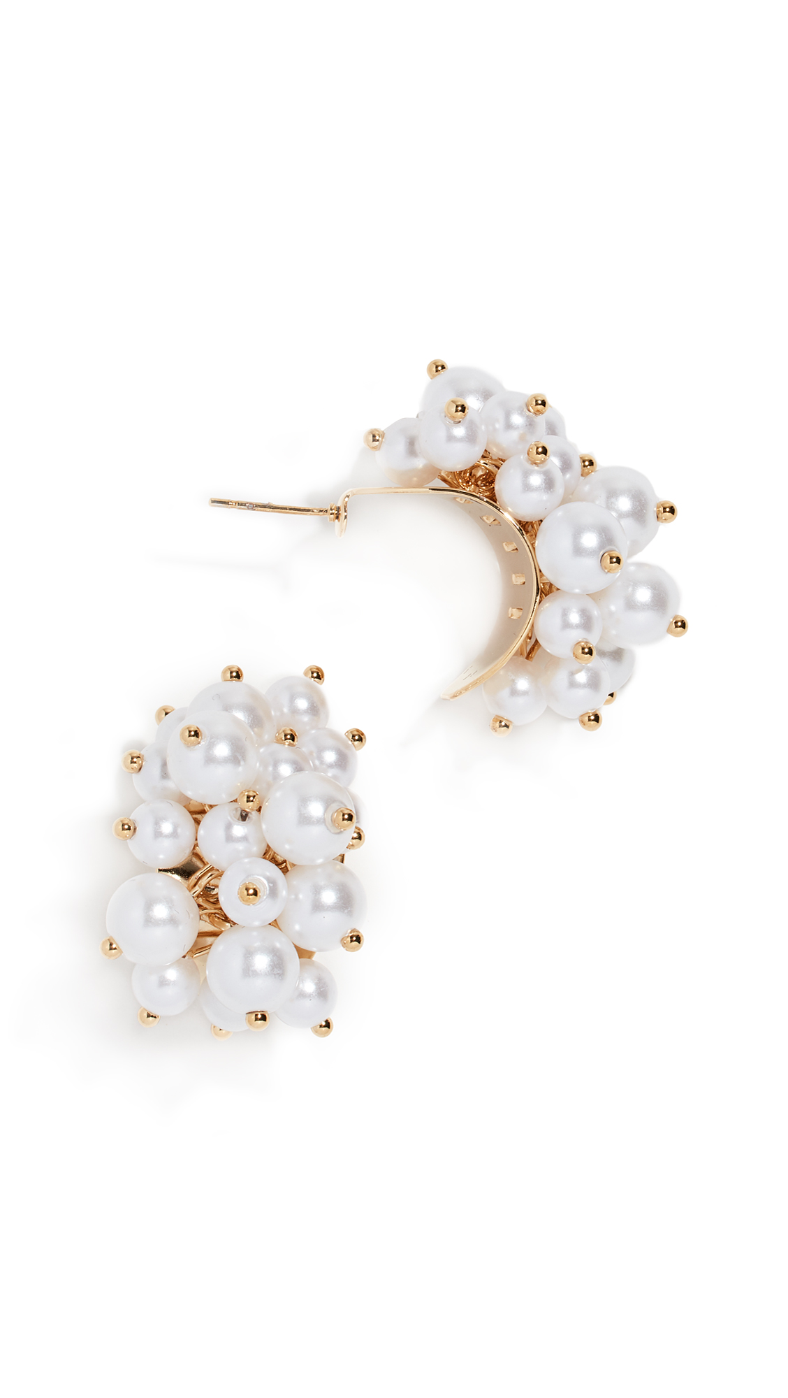 RELIQUIA Rich Girl Earrings in Yellow Gold/Pearl