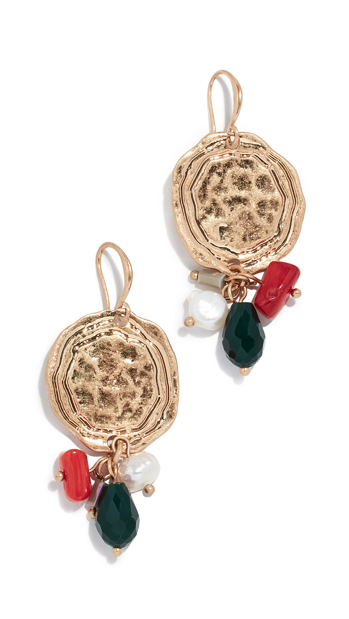 RELIQUIA Neolithic Earrings in Gold/Red/Blue
