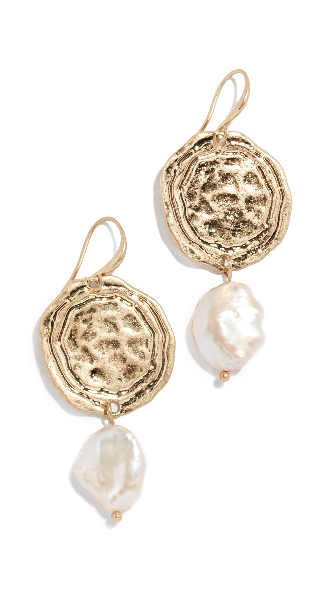 RELIQUIA Surprise Earrings in Yellow Gold/Pearl