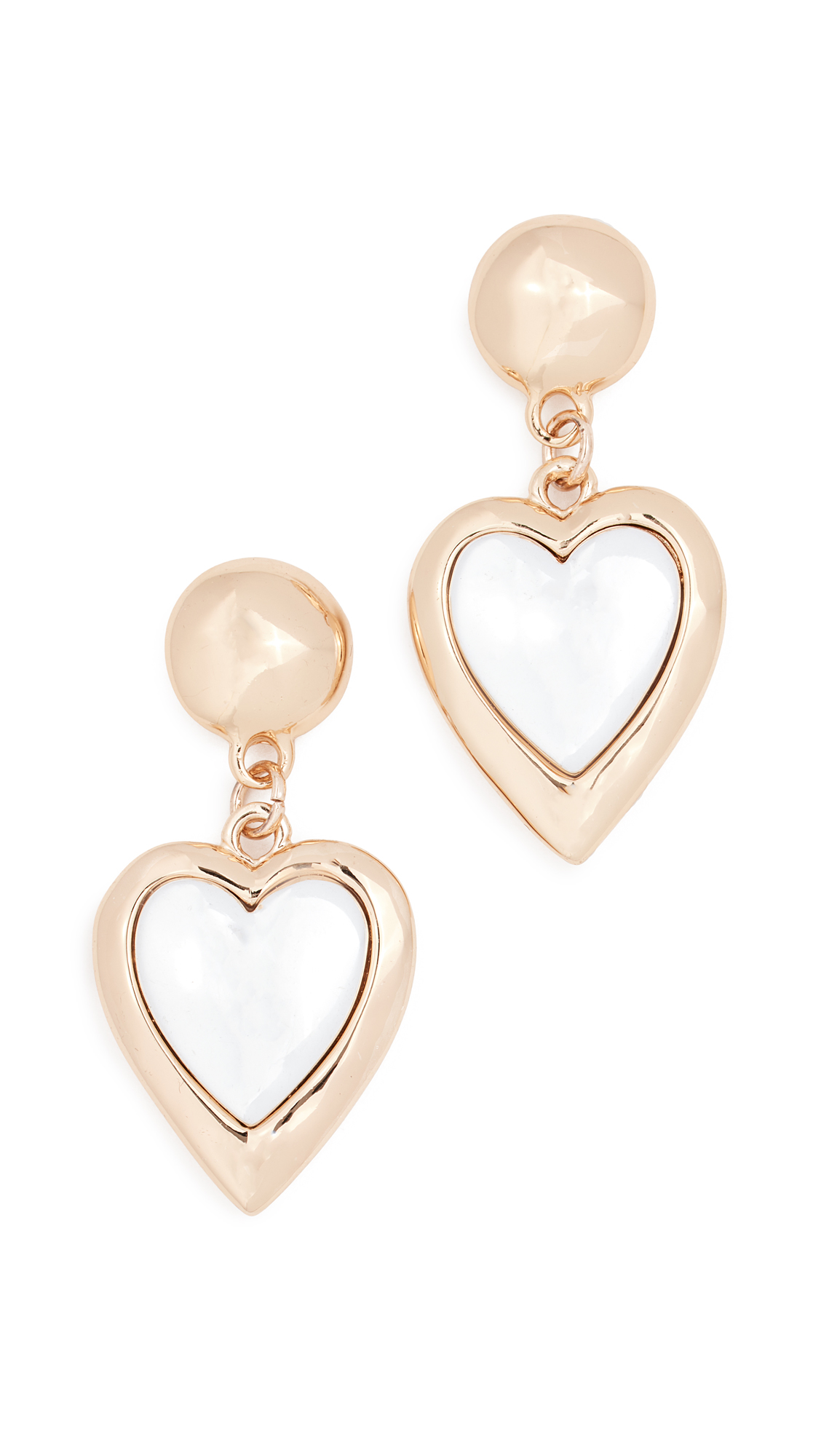 RELIQUIA Kind Heart Earrings in Yellow Gold