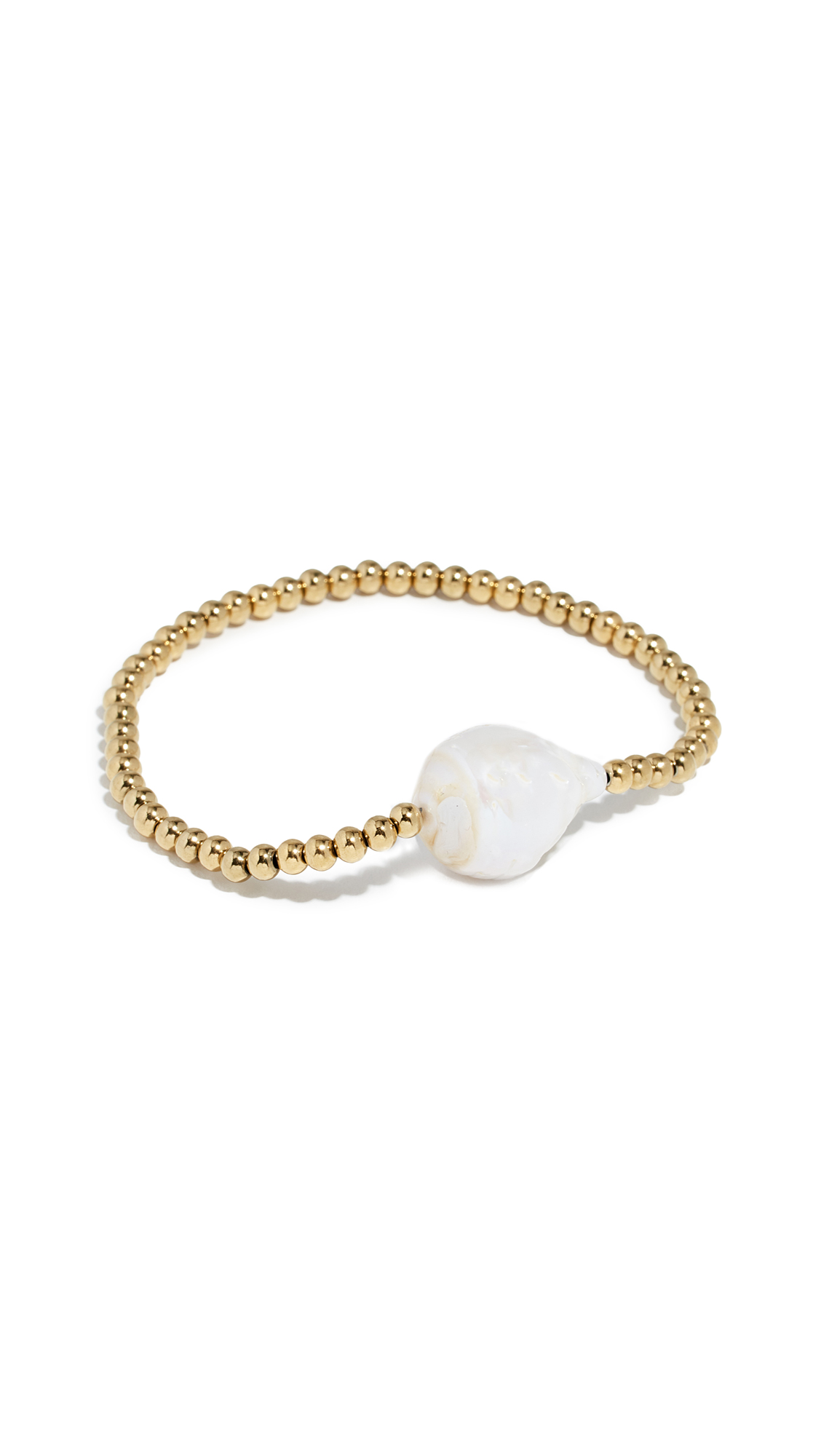 RELIQUIA Single Keshi Cultured Pearl Bangle Bracelet in Yellow Gold