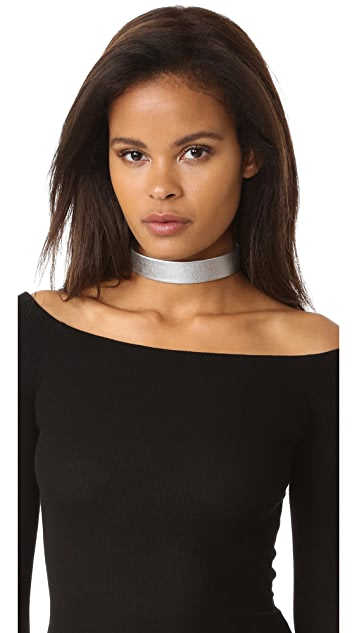 Rendor and Steel Leather Choker Necklace