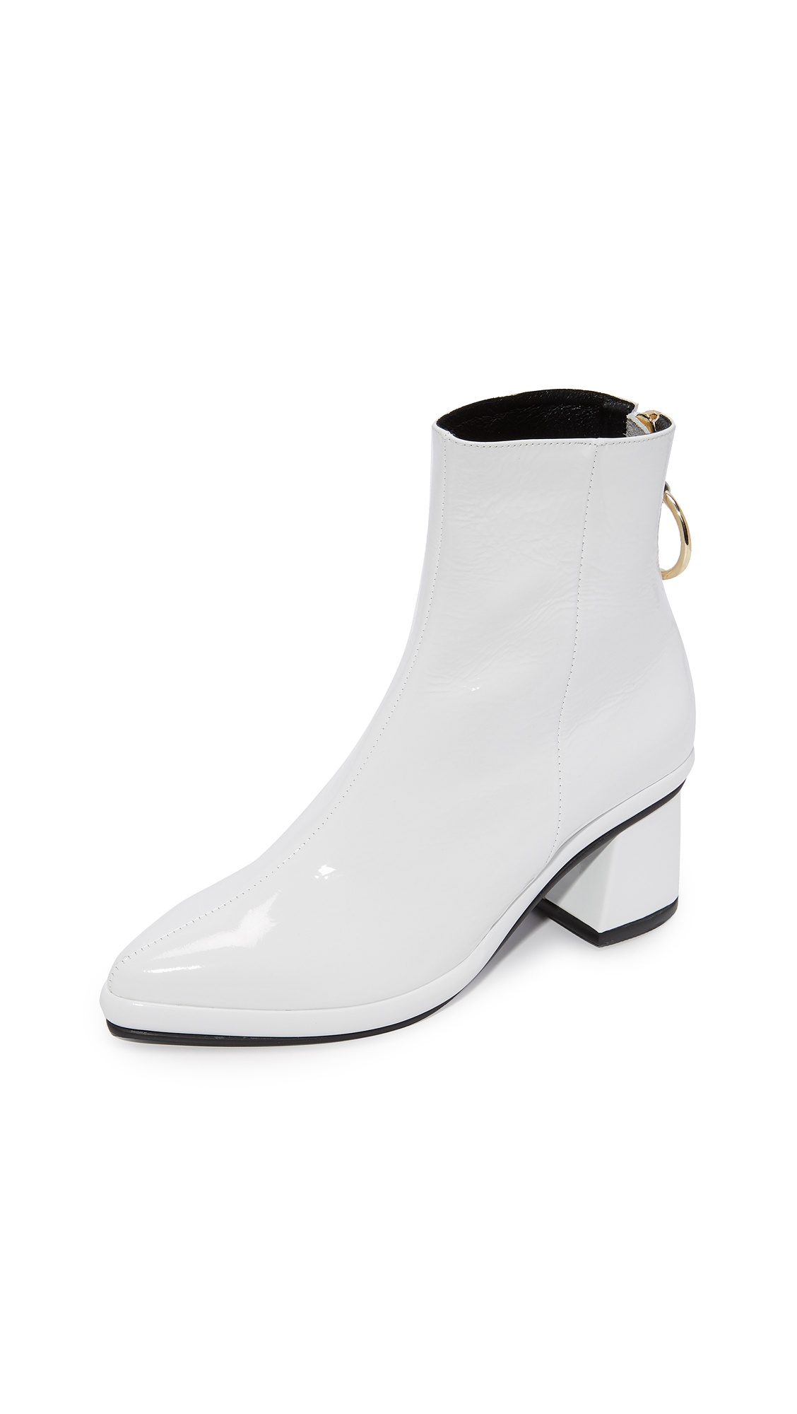 Reike Nen Ring Mid Booties In White