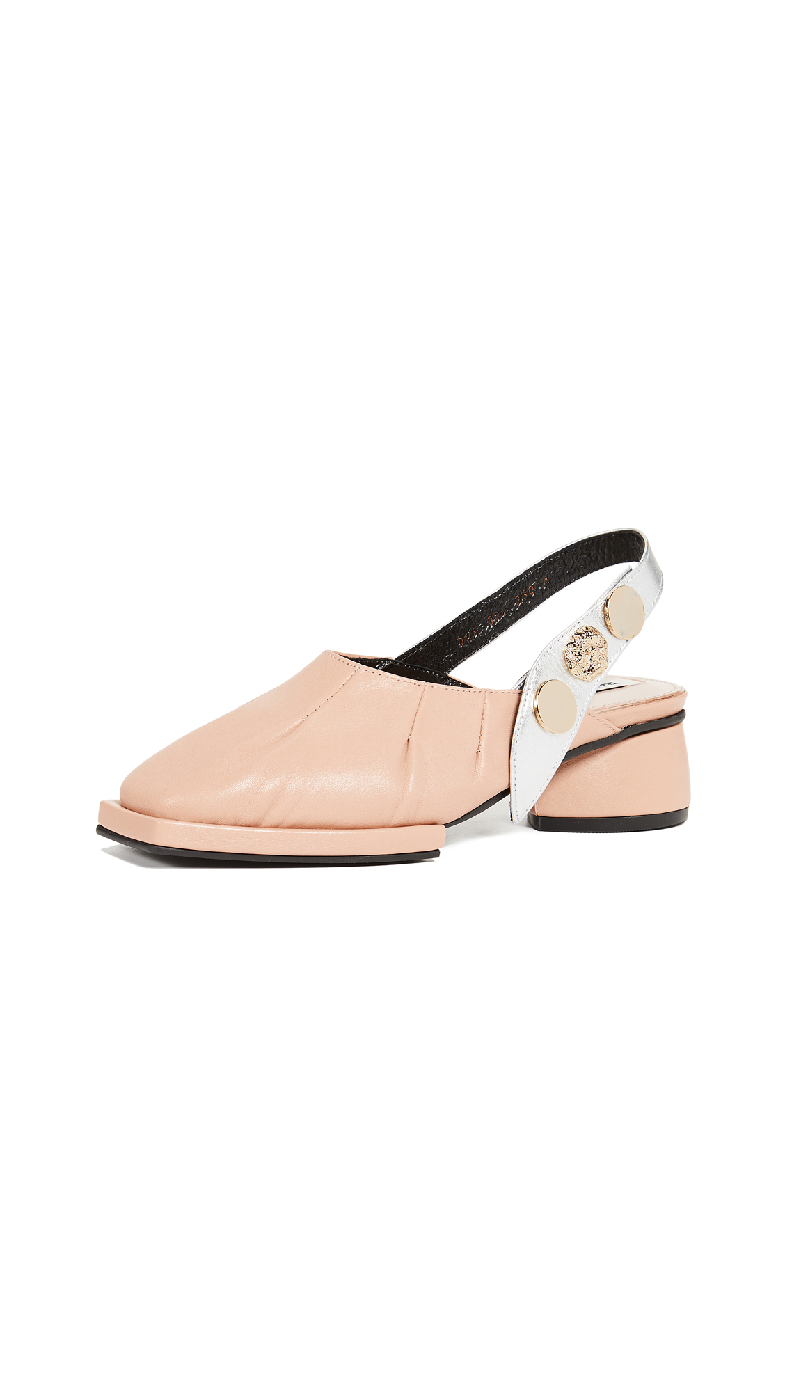 Reike Nen Slingback Pumps - Pale Pink/Silver