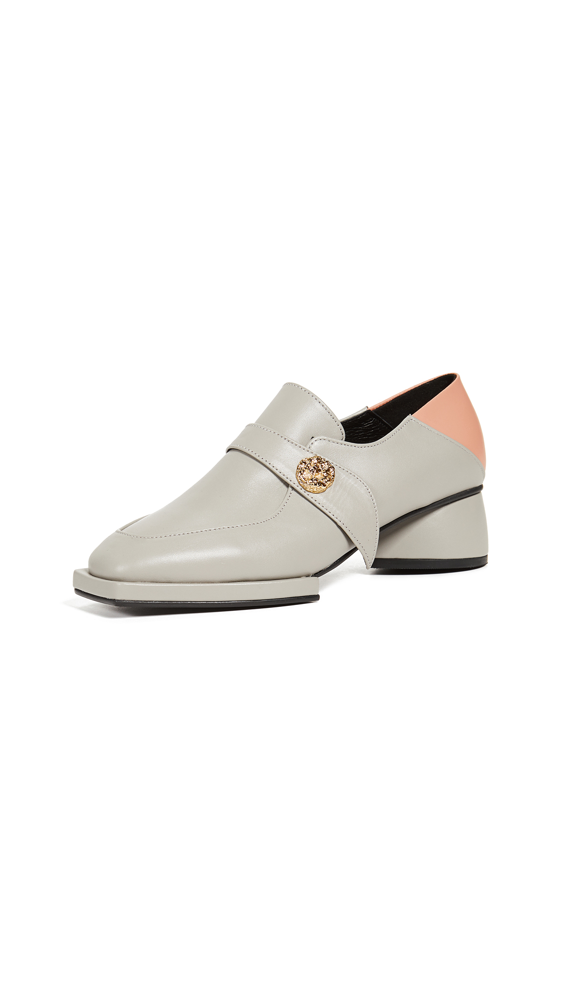 Reike Nen Convertible Loafers - Light Grey/Coral