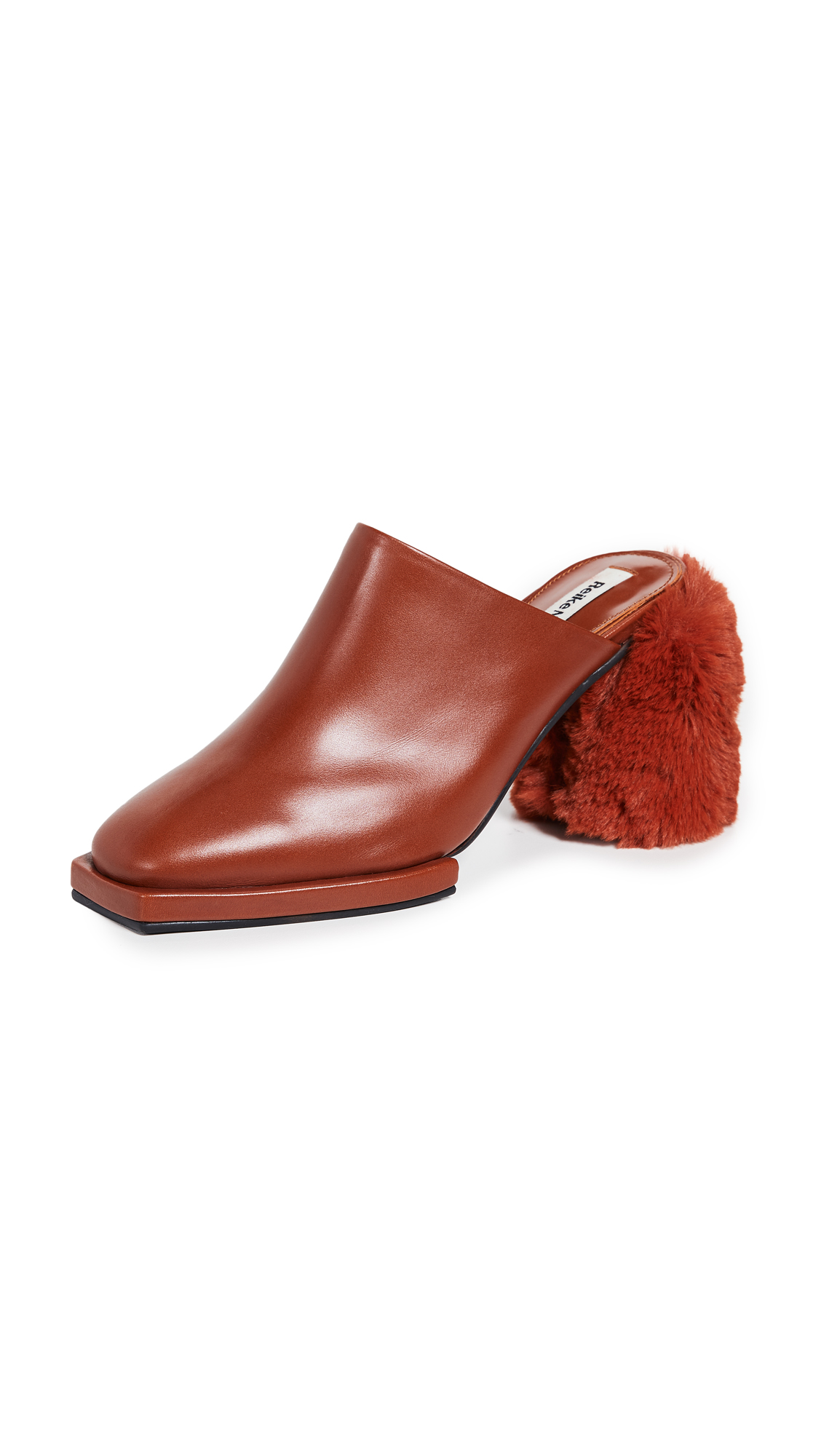 Reike Nen Square Platform Mules - Brown/Copper